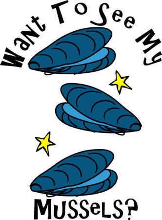 Austern ist einer der schmackhafter Meeresfrüchte cull diese Entwürfe von Eintracht Sammlungen Standard-Bild - 40759536