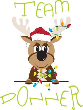 donner: The name Donner means thunder in German.So Enjoy this Reindeer Design. Illustration