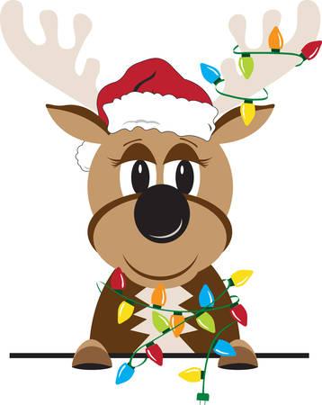 The name Donner means thunder in German.So Enjoy this Reindeer Design. Illusztráció