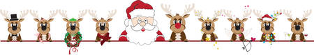 Make  Your Christmas Special with this  Christmas Reindeer border design. Zdjęcie Seryjne - 40760216