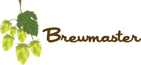 Le houblon est l'ingrédient clé qui rend la bière savoureuse sélection de ces dessins de Concord Collections. Banque d'images - 44057255