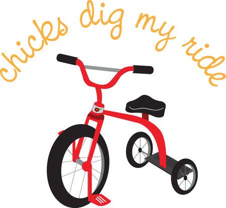 driewieler: Geniet van het plezier van de kinderen met een driewieler. Pick die ontwerp van Concord Stock Illustratie