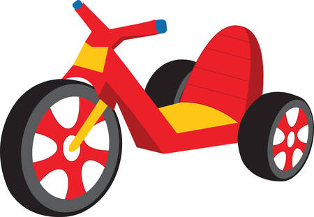 A Big Wheel is a type of tricycle usually made of plastic with an oversized front wheel that rides very low to the ground