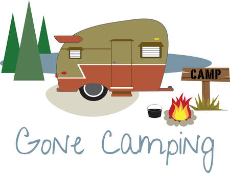 Camping with friends is a happiest moment in evey ones life . Pick those design by Concord Stock Vector - 40760359
