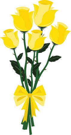 Pick yellow roses to fill your loved ones day with sunshine