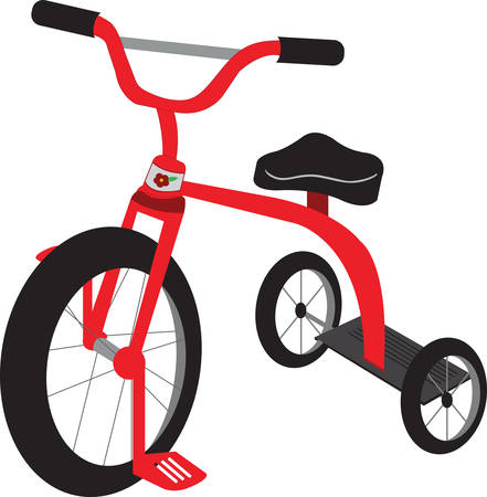 velocipede: Enjoy the fun of  children with a tricycle. Pick those design by Concord. Illustration
