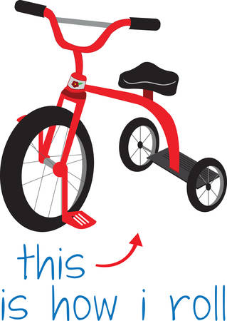 Enjoy the fun of  children with a tricycle. Pick those design by Concord. Illustration