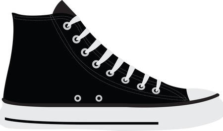 High tops are pumped up for kicks.  Get this image for your next design. Banco de Imagens - 40760918