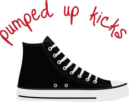 pumped: High tops are pumped up for kicks.  Get this image for your next design.