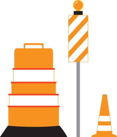 detour: This road detour sign is perfect for your next project. Illustration