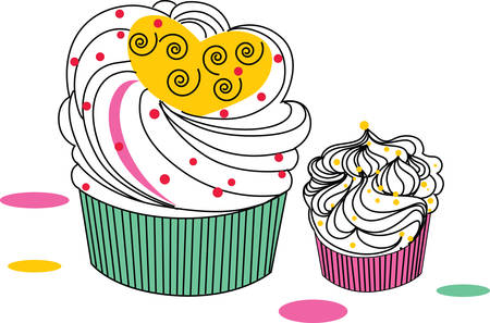 vanilla cake: Give this cupcake to a girl to remember her birthday all year long.  She will love it
