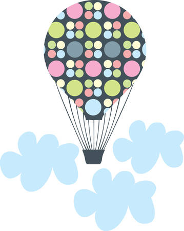 This beautiful hot air balloon is a perfect design for a room.