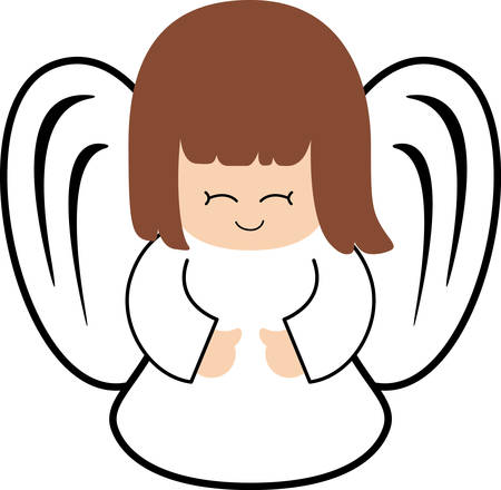 This sweet angel is a perfect design to add to your next project. Ilustrace