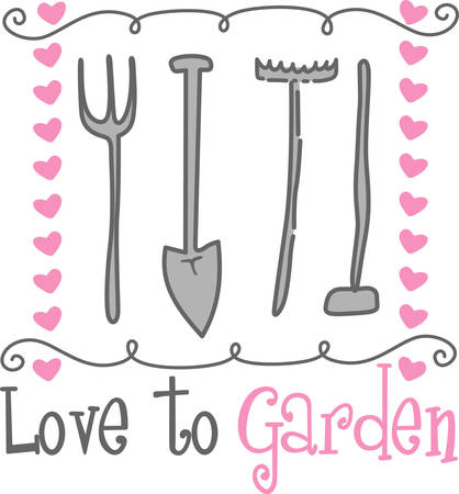 A garden tool is any one of the tools made for gardens and gardening and overlaps with the range of tools Ilustracja