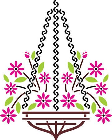 Hangende bloempotten toe glamour aan ons huis halen deze ontwerpen van eendracht collecties Stockfoto - 40804946