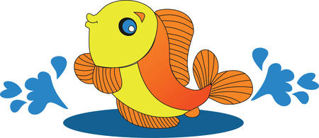 Yellow fish are symbol of good luck pick these lucky designs from concord collections Illustration