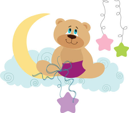 Grab these decorative teddy bear designs from concord collections Illustration
