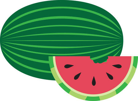 When one has tasted watermelon he knows what the angels eat. 向量圖像