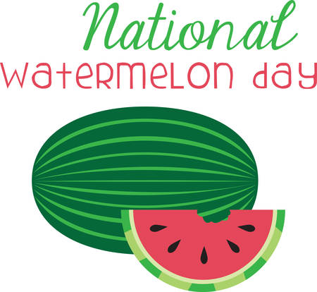 knows: When one has tasted watermelon he knows what the angels eat. Illustration