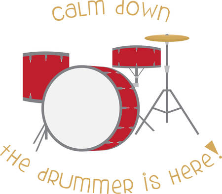 You know the drum was the first instrument besides the human voice Illustration
