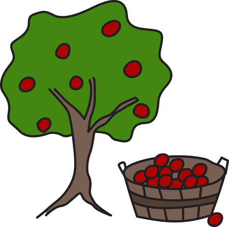 bushel: The apple tree never asks the beech how he shall grow nor the lion the horse how he shall take his prey Illustration