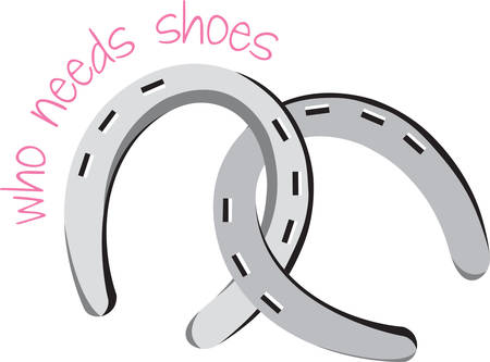 omen: Regrets are for horseshoes and handbags. Illustration