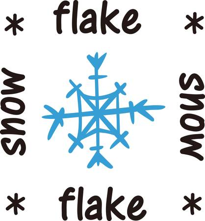 christmas embellishments: Snowflakes bring memories of holidays and winter fun.  Use this snowflake to add a touch of winter magic. Illustration