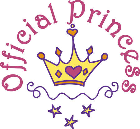 Every princess needs a crown.  Give this heart adorned crown to your princess for a special touch of royalty. Illustration