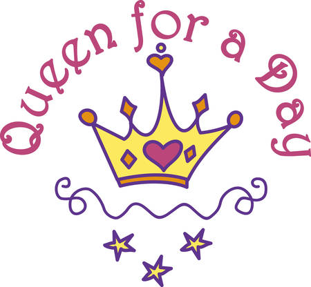 royalty: Every princess needs a crown.  Give this heart adorned crown to your princess for a special touch of royalty. Illustration