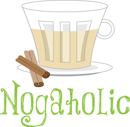 Get ready to celebrate the Christmas season with eggnog.  This is a perfect design to add to napkins for your party.