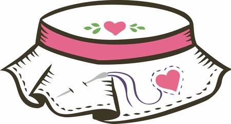 needlework: Needlework usato per arricchire i tessuti in pelle ed ecc ... � l'arte di ricamo. Vettoriali