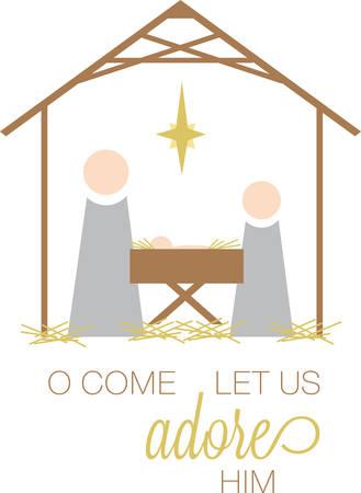 クリスマスの朝、キリスト降誕のシーンでイエスを配置するまで待ちます。
