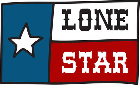 The flag of the Lone Star State is a perfect embellishment for Western wear and cowboy shirts.  Celebrate Texas with this bright design.