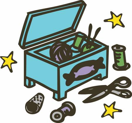 sewing box: A sewing box is a container which is designed to hold sewing equipment and accessories.