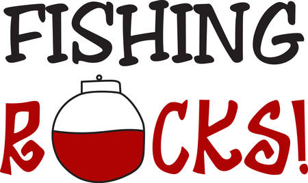 alerts: This red and white float alerts the fisherman when a fish is on the line.  What a great way to decorate for a fisherman. Illustration