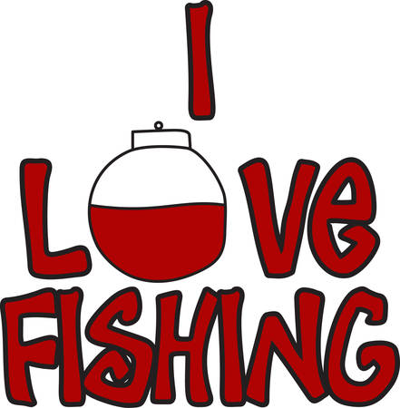 This red and white float alerts the fisherman when a fish is on the line.  What a great way to decorate for a fisherman. Ilustracja