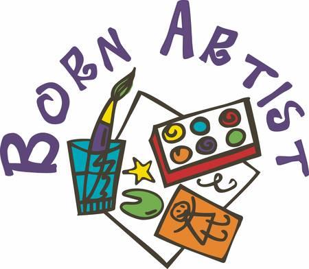 Schilderen is selfdiscovery. Elke goede kunstenaar schildert wat hij is. Stock Illustratie
