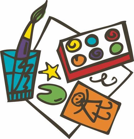 Schilderen is zelfontdekking. Elke goede kunstenaar schildert wat hij is. Stock Illustratie