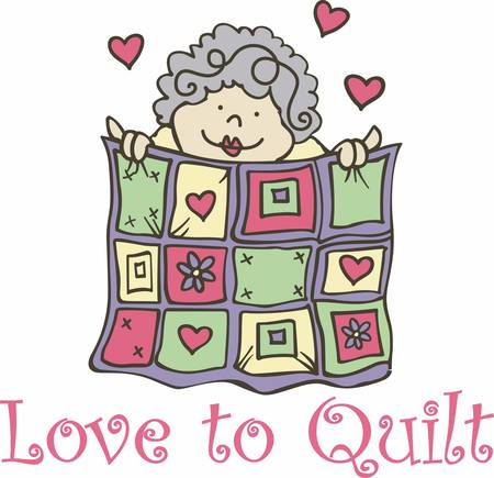 Anyone who works on a quilt who devotes her time energy creativity and passion to that art learns to value the work of her hands Çizim