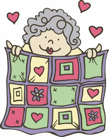 Anyone who works on a quilt who devotes her time energy creativity and passion to that art learns to value the work of her hands Vettoriali