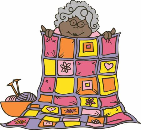 Good friends are like quilts they never lose their warmth Ilustração