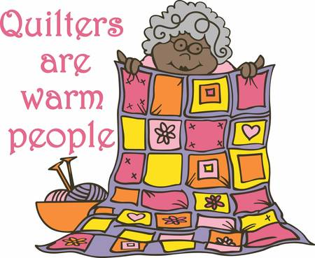 warmth: Good friends are like quilts they never lose their warmth Illustration