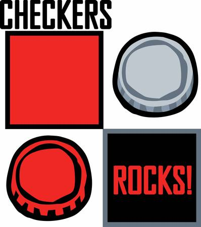Checkers is an excellent game of strategy. Get this design for your next project.Pick those design by Concord. Ilustracja