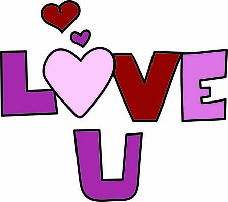infatuation: Trendy lettering and hearts come together to form love text.  Perfect for apparel decoration or print creations.