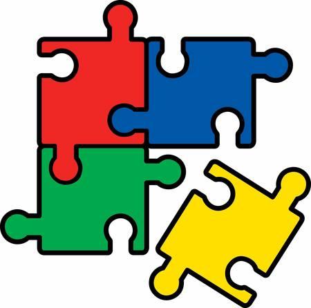 모두가 함께 지그 소 퍼즐을 넣어 배울 수 있습니다. 콩코드에 의해 그 디자인을 선택합니다.