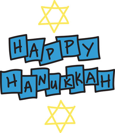 jews: I pray that love and blessings shine upon you today and always. Happy Hanukkah Illustration
