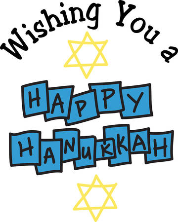 I pray that love and blessings shine upon you today and always. Happy Hanukkah Иллюстрация