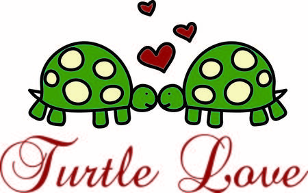 These two little love turtles are the cutest decoration for your special project. The hearts just seem to show the love between the two.
