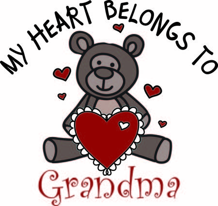a fellow: A sweet teddy bear sends love in so many ways.  This fellow has a big heart with hearts all around to express your heartfelt wish. Illustration