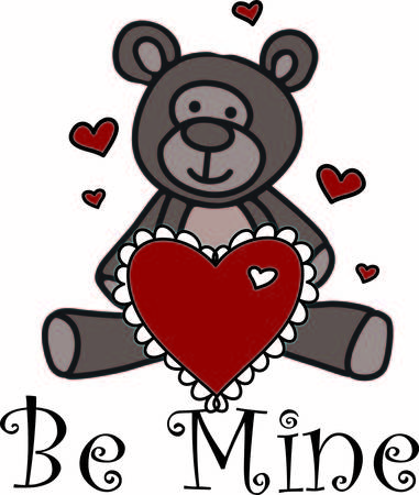 A sweet teddy bear sends love in so many ways.  This fellow has a big heart with hearts all around to express your heartfelt wish. Ilustração